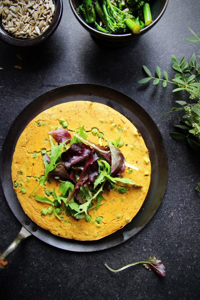 Vegan Bombay Sweet Potato & Pea Fritatta