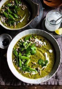 Spiced broccoli soup