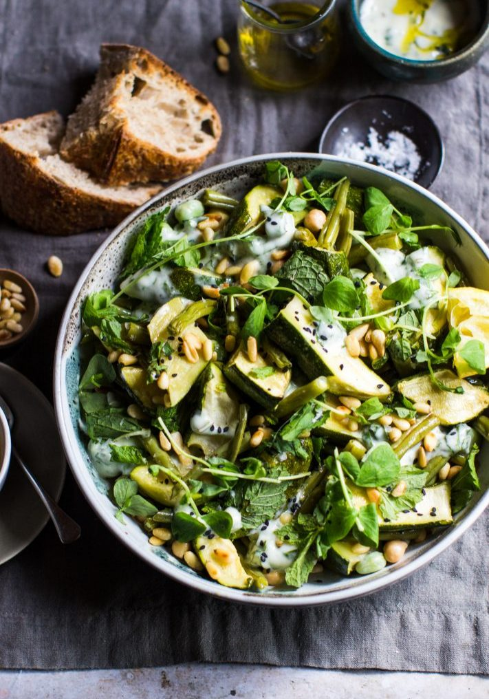roast courgette salad