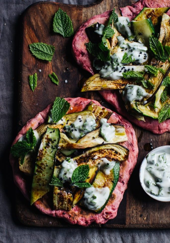 Beetroot flatbread pizza