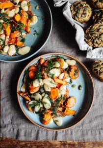 carrots and butter bean salad