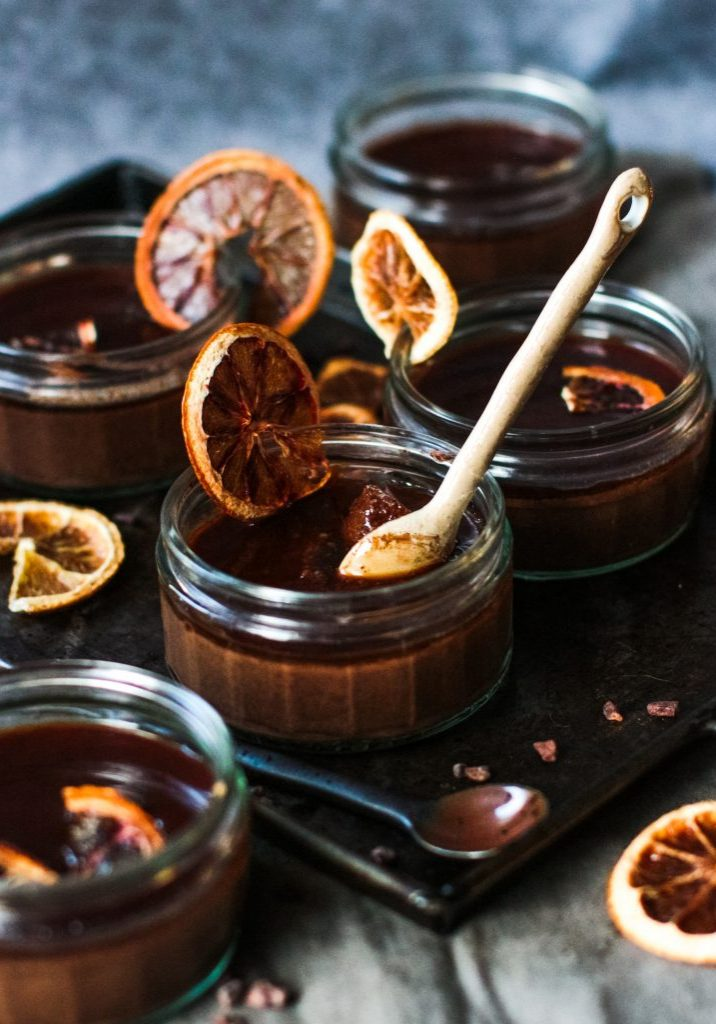 Festive chocolate orange ganache pots3