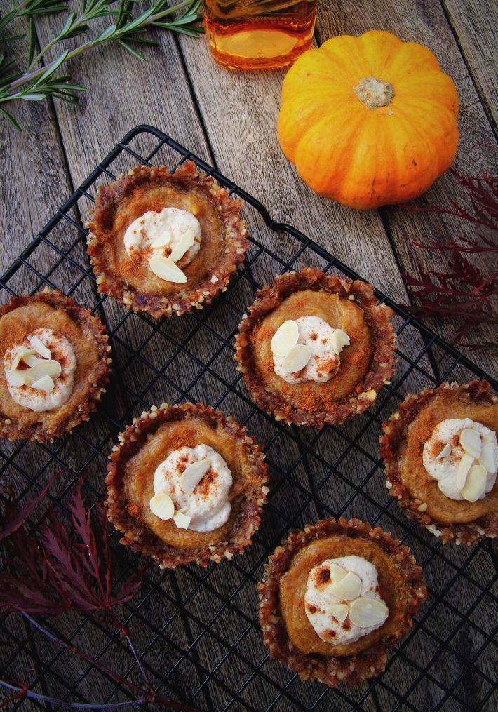 Mini Pumpkin Pies (Raw, Vegan & Gluten Free)