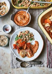 Roast squash & cauliflower wiith red pesto, rice salad and toasted seeds 3