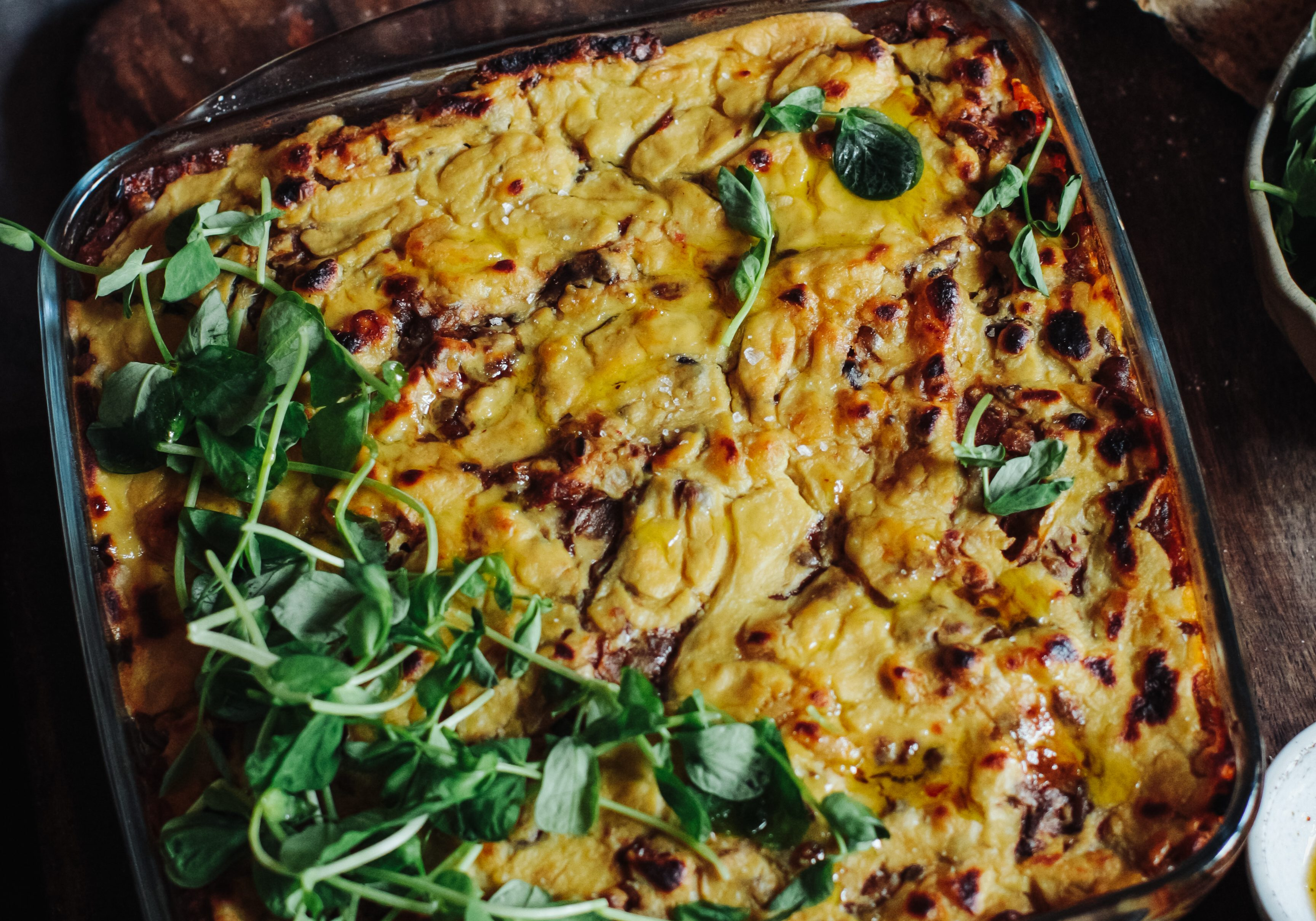 Winter Layered Lentil and Squash Bake