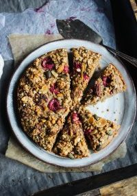 banana, raspberry and almond cake 3