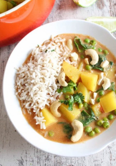 Potato and veg curry