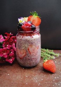 Strawberry Oat and Chia Pudding