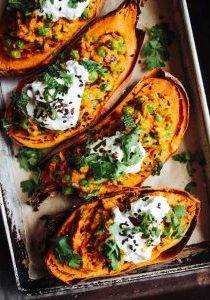 loaded Indian spiced sweet potatoes 5