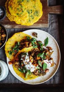 spiced carrots with carrot crepes 4