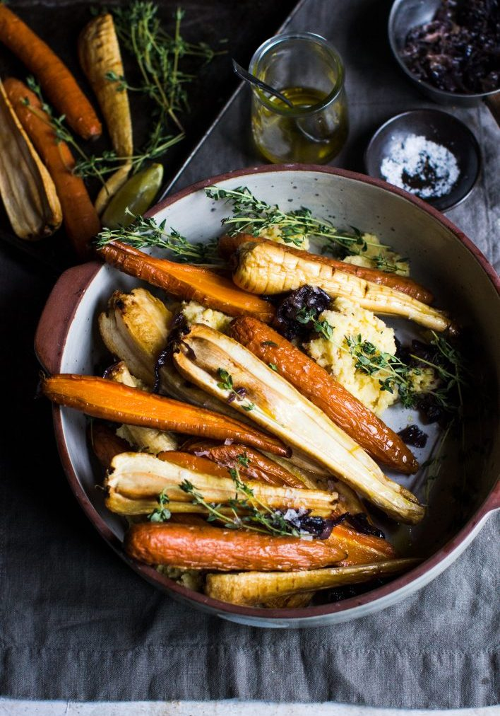 spiced maple roast carrots & parsnips4